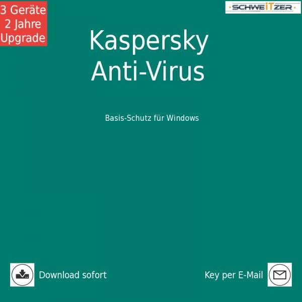 Kaspersky Anti-Virus 2019 *3-Geräte / 2-Jahre* Upgrade, Download