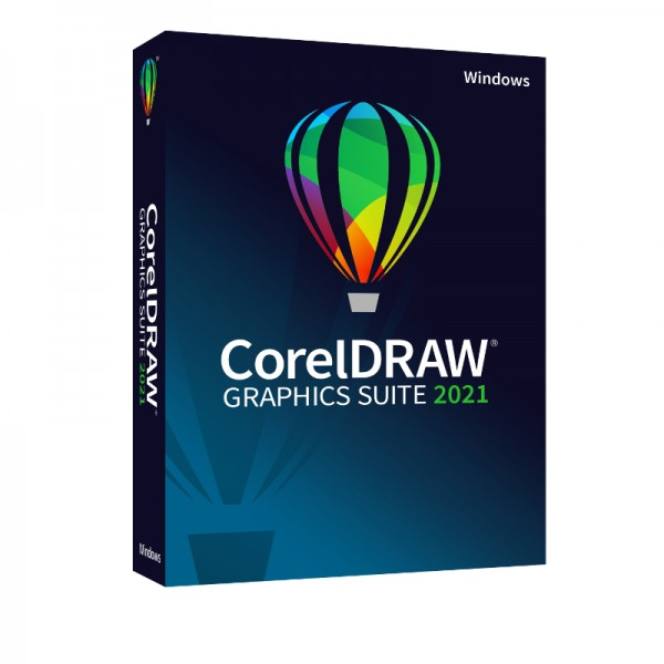 CorelDRAW Graphics Suite 2021, Windows10, Deutsch, Slim-Case
