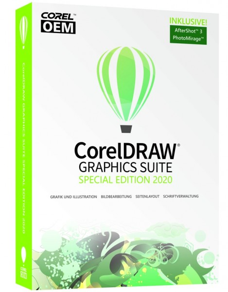 CorelDRAW Graphics Suite Special Edition 2020OEM +AfterShot3+PhotoMirage, DVD-Box