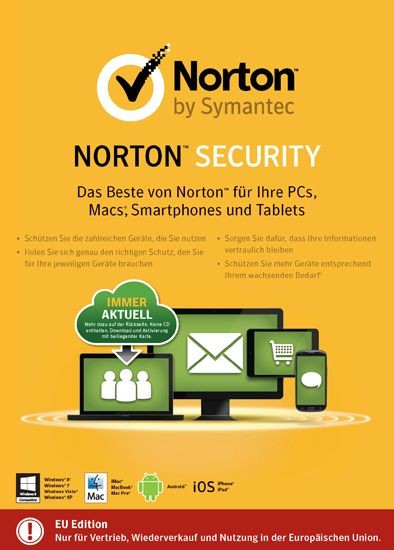 NORTON SECURITY 2.0, 5 Geräte, KEY