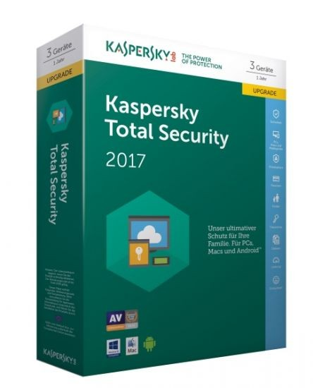Kaspersky Total Security 2017 - 3 Geräte - Upgrade (Code Only) #BOX