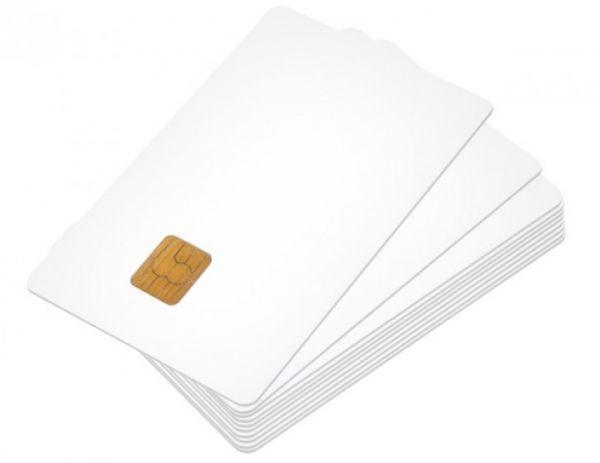 CHIPDRIVE Blanko Memory Smartcard / Chipkarte 16kBit weiß 10 Stück