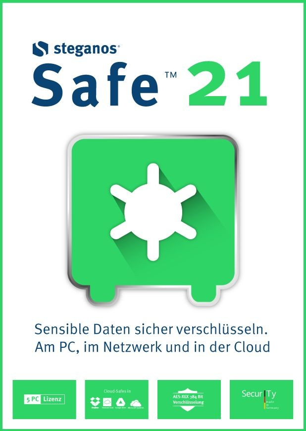 Steganos Safe 21 #PKC (Karte mit Key und Download-Link) ST-12138-PKC