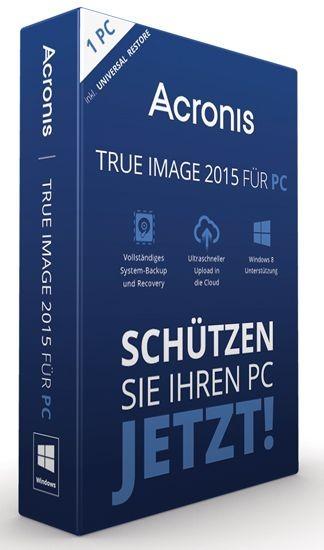 Acronis True Image 2015 -inkl. Universal Restore BOX