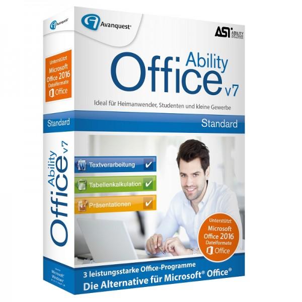 AvanQuest Ability Office 7 - Die zuverlässige Office-Alternative, Box
