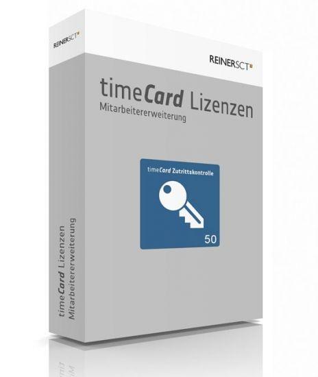 REINER SCT timeCard 6 Zutrittskontrolle ERWEITERUNG, 50 Mitarbeiter