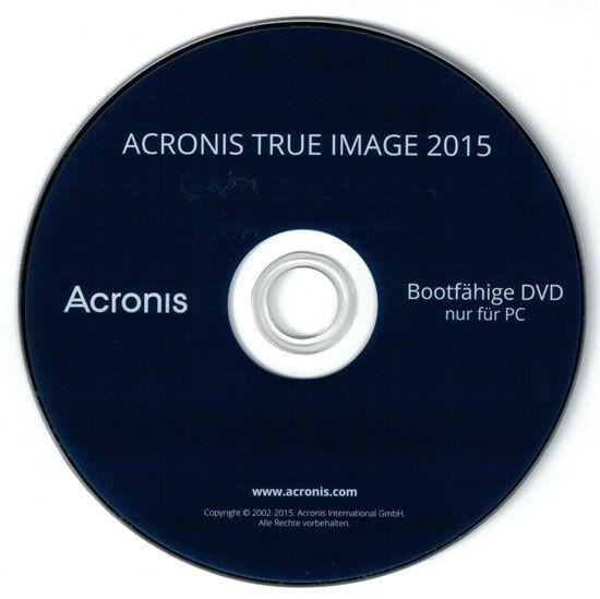 Acronis True Image 2015, DVD, KEY und Handbuch