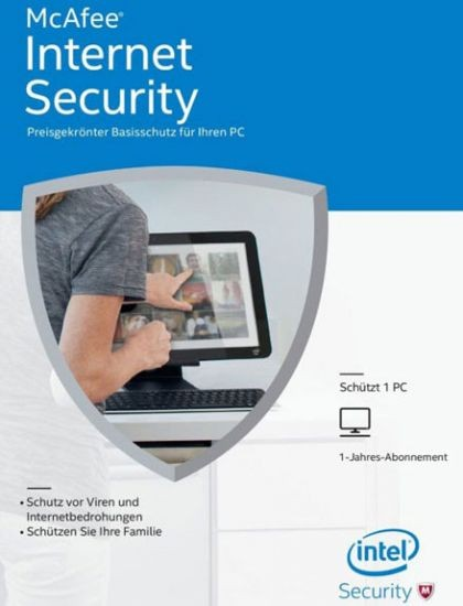 McAfee Internet Security 2016 Unlimited Devices, 1 Jahr, Download