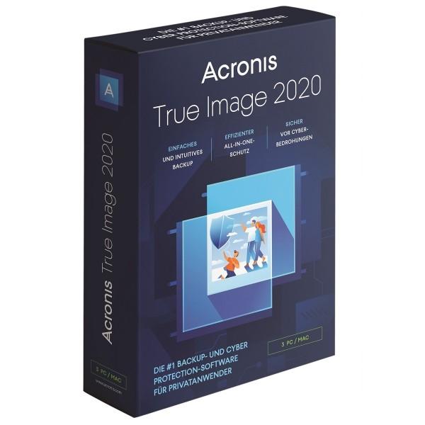 Acronis True Image 2020, 3 Geräte, Dauerlizenz, BOX