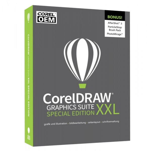 CorelDRAW Graphics Suite XXL Special Edition OEM +AfterShot3 BOX