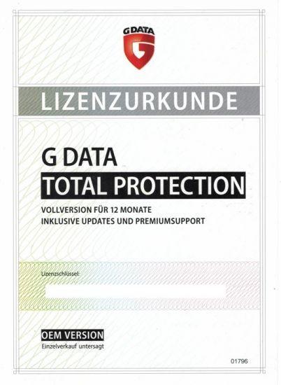 G Data Total Protection, PKC (Karte mit KEY)