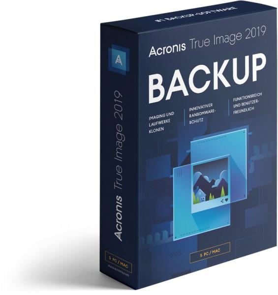 Acronis True Image 2019, 5 Geräte, Dauerlizenz BOX