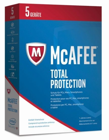 McAfee 2017 Total Protection - 5 Device - (Code Only) #BOX