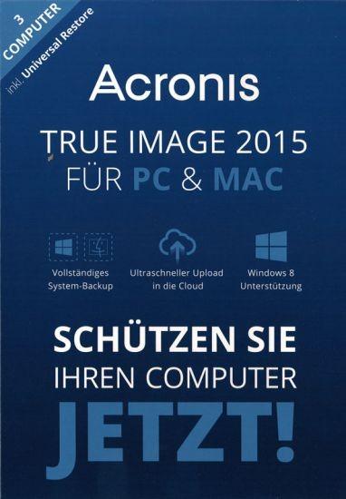 Acronis True Image 2015 3 PC, Win 10/8/7, Mac -inkl. Universal Restore- Download
