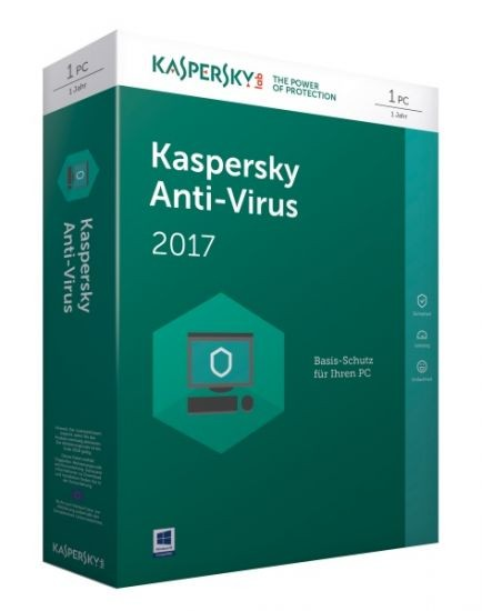 Kaspersky Anti-Virus 2017 - 1 Gerät - (Code Only) #BOX