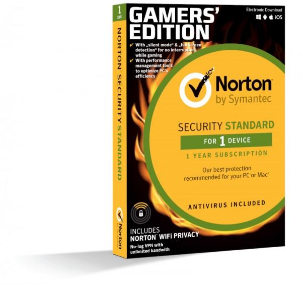 NORTON SECURITY Standard, Gamer Edition, inkl. VPN, 1 PC, 1 Jahr, BOX(Card Case)