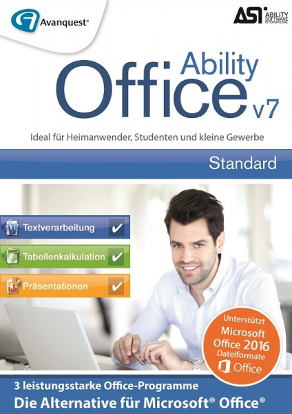 AvanQuest Ability Office 7 - Die zuverlässige Office-Alternative, (CD+Key)