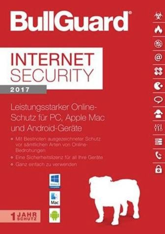 BullGuard Internet Security 2017/2018, 3 Geräte, PC/Mac/Android,1 Jahr, Download