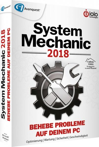 System Mechanic 2018, 1 Jahr, fuer alle PCs im Haushalt, Box mit CD