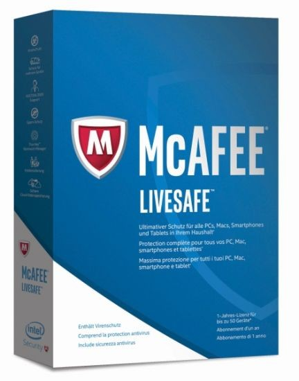 McAfee 2017 LiveSafe (Code Only) #BOX