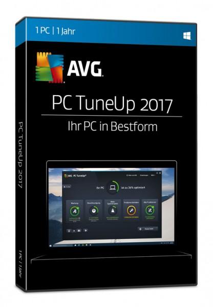 AVG TuneUp Utilities 2017, 1 User, 1 Jahr, Box