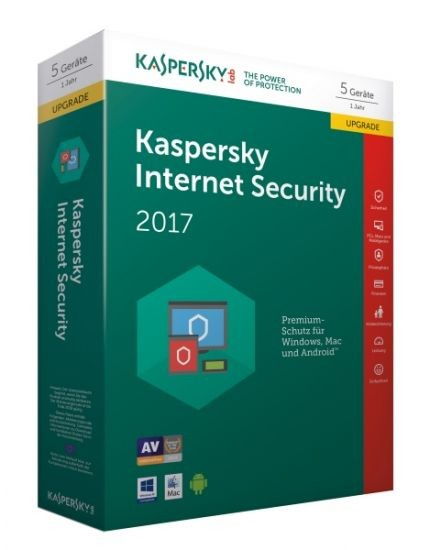 Kaspersky Internet Security 2017 - 5 Geräte - Upgrade (Code Only) #BOX