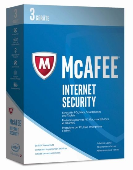 McAfee 2017 Internet Security - 3 Device - (Code Only) #BOX