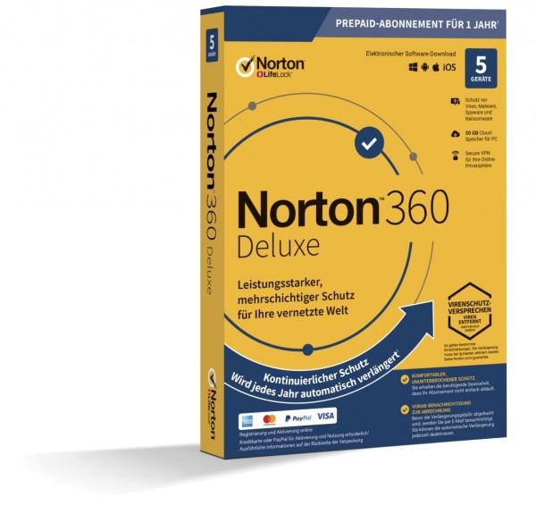 NORTON 360 DELUXE 2019 (Internet Security) 5-Geräte / 1-Jahr ABO inkl.50GB BOX