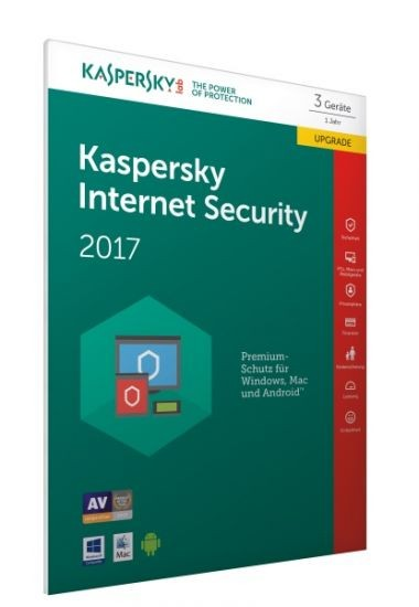 Kaspersky Internet Security 2017 - 3 Geräte - Upgrade (Code Only) #FFP