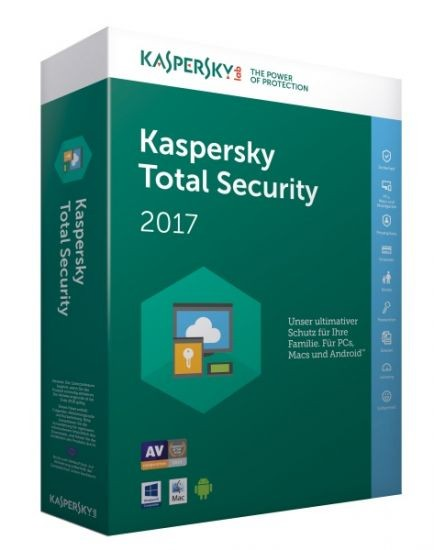 Kaspersky Total Security 2017 - 3 Geräte - (Code Only) #BOX