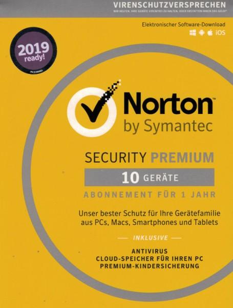 NORTON SECURITY Premium 3.0 10 Geräte, Download -inkl. 25 GB Cloud-Speicher