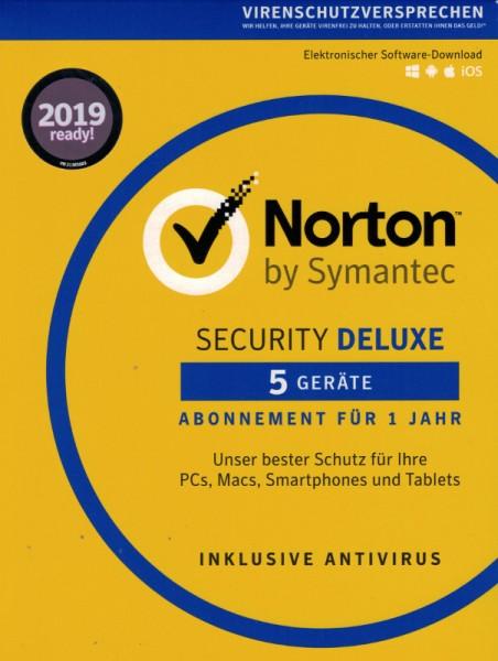 NORTON SECURITY Deluxe 3.0 5 Geräte Download 1 Jahr (gg. Aufpreis 2 od. 3 Jahre)