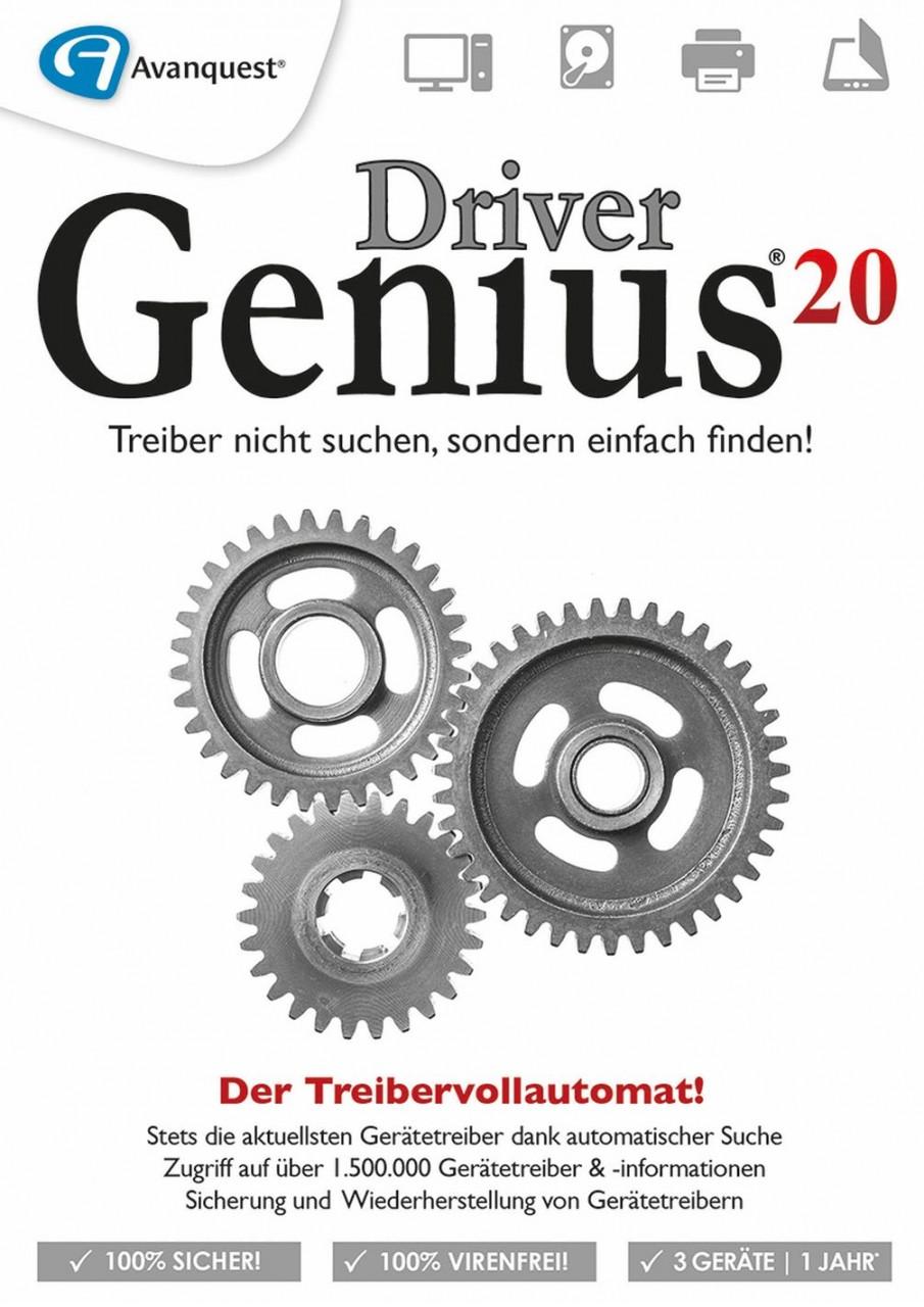 Driver Soft Driver Genius 20, 3 Geräte, 1 Jahr, DOWNLOAD DS-12163-LIC