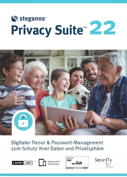 Steganos Privacy Suite 22, 5 Geräte, 1 Jahr, Win10, Android, iOS, Download