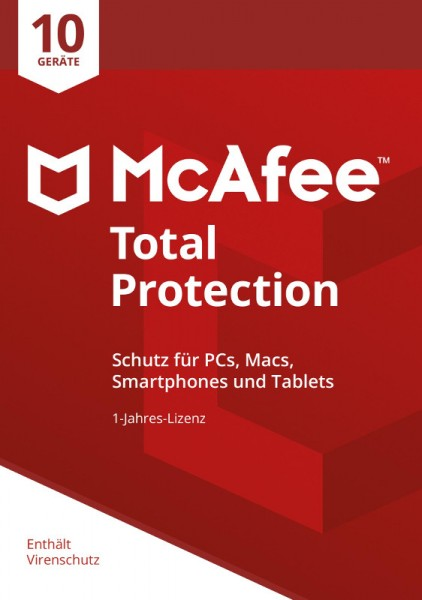 McAfee Total Protection (2019) 10 Geräte 1 Jahr Download