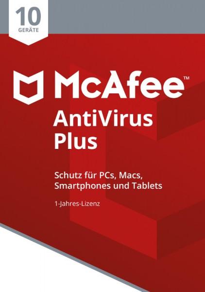 McAfee AntiVirus Plus (2018) 10 Geräte 1 Jahr, Download