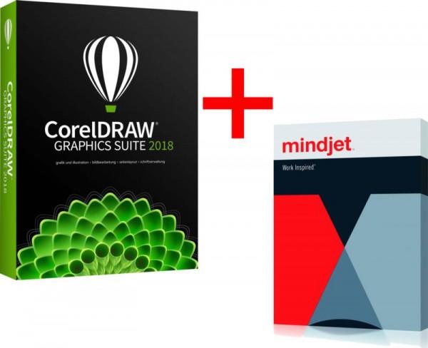 CorelDRAW Graphics Suite 2018 NurStudent/Schüler/Dozent/Lehrer+MindManager15 ESD