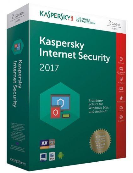 Kaspersky Internet Security 2017 - 2 Geräte - (Code Only), BOX