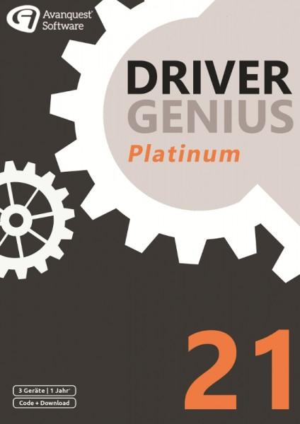 Driver Genius 21 Platinum, 3 Geräte, 1 Jahr, DOWNLOAD