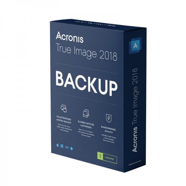 Acronis True Image 2018, 3 Geräte, Dauerlizenz BOX