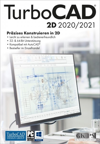 TurboCAD 2D 2020/2021, Windows 64-Bit, Download