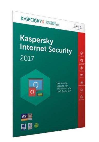 Kaspersky Internet Security 2017 - 1 Gerät - #FFP (Code Only) #BOX