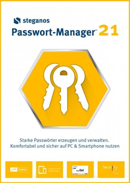 Steganos Passwort-Manager 21, 5 Geräte, #DOWNLOAD