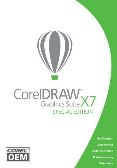Corel DRAW Graphics Suite X7 Special Edition OEM, DVD-Box