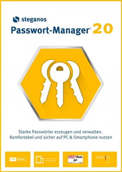 Steganos Passwort-Manager 20 #Key (ESD)
