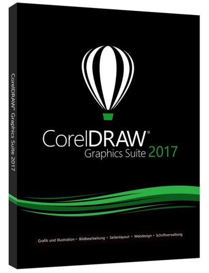 Corel DRAW Graphics Suite 2017 (X9) Vollversion Deutsch DVD BOX