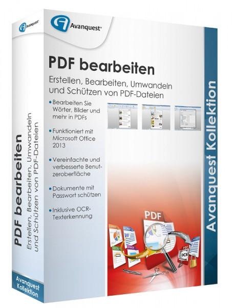 AvanQuest PDF bearbeiten - Erstellen, Bearbeiten, Umwandeln und Schützen, BOX