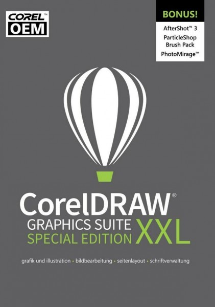CorelDRAW Graphics Suite XXL Special Edition OEM +AfterShot3 ESD