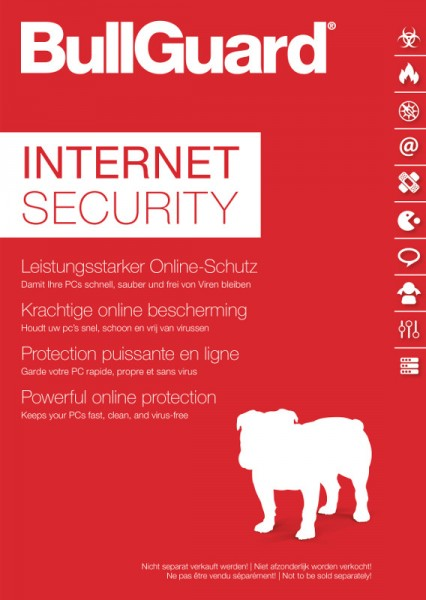 BullGuard Internet Security 3 Windows-PC, 1 Jahr Box