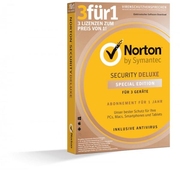 NORTON SECURITY Deluxe, 3 für 1 Special Edition, 3 Geräte, BOX